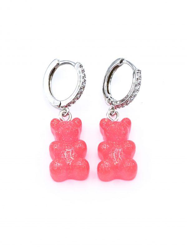 Gummy bear hoop earrings